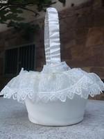 Esküvő-áldozás virágszóró kosárka kislányoknak-ajándékba is