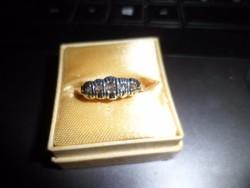 Antik arany gyűrű gyémántokkal