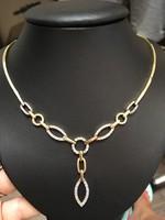 14 karátos női köves arany nyakék, elegáns viselet!