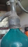 Gyűjtői darab kék szódásüveg 0.5 L Az első Miskolczi egyesület Szikvíz