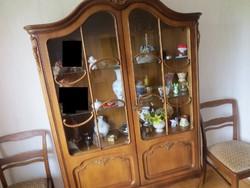 Chipendél barokk Bartels vitrines szekrény 115x40x178cm