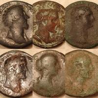 Római nagybronz érme  lot  6 db