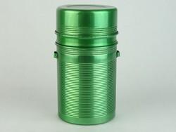 0N277 Régi retro zöld alumínium termosz
