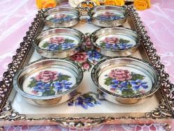 Gobelin tálca + poháralátétek