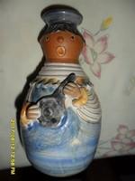 Kiss Roóz Ilona zenész lány figura váza- gyertyatartó