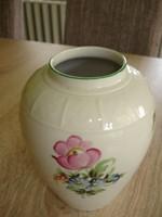 Virágos herendi porcelán váza