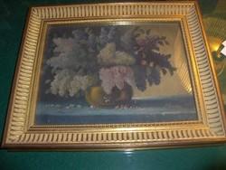 Orgonacsokor kisméretű festmény