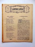 LÁNYOK LAPJA1884június8 RÉGI ÚJSÁG