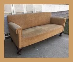 Oroszlán lábas club kanapé,szófa,garnitúra része