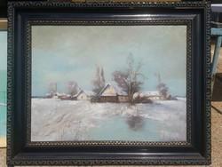 Halász Sándor / Tanya télen