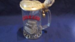 Üveg sörkassza lakattal A071