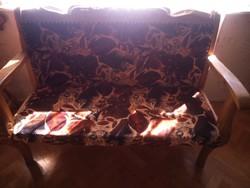 Kárpitozott tömör fa kanapék, kézzel készített