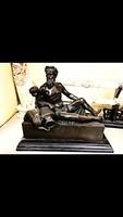 Mitológia jelenetű - bronz szobor