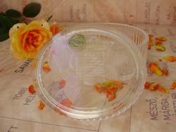 Antik francia D'Arques ólomkristály rózsás ékszerdoboz