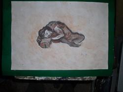 Akt -Lehoczky József papír, tempera, keret nélkül, 30 x 40 cm Tekintse meg a többi festményemet is!s