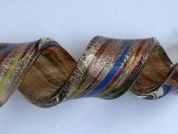 Muránói medál ezüst lapocskákkal