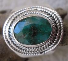 925 ezüst gyűrű, 17,9/56,2 mm, szillimanittal