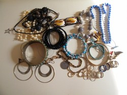 Vegyes bizsu csomag karkötők, nyakláncok, gyűrűk
