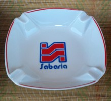 Hollóházi porcelán tál, hamutál, Savaria, Szombathely