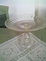 Szépsége jugendstyl üveg talpas gyümöcstál