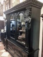 7 részes antik dolgozószoba íróasztallal