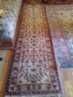 Kézi csomózású gyapjú perzsaszőnyeg futó eladó