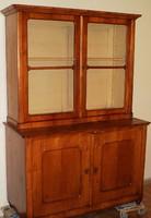 Korabeli antik Osztrák Biedermeier tálaló szekrény cseresznye furéros. 150-éves !