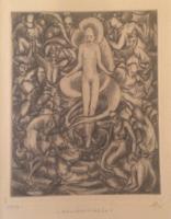 Miskolczy Ferenc: Bálványimádók, 1928 rézkarc