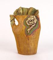 0N775 Jelzett kortárs kerámia váza 26.5 cm
