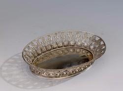 Antik bécsi ezüst filigrán tálka
