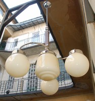 Art Deco - Bauhaus 3 karú, 4 égős csillár