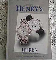 HENRY's AUKCIÓSHÁZ ÁRVERÉSI  - ÓRA  KATALÓGUS 2002