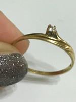 18K-os arany gyűrű 18,5mm átmérővel