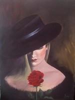 A Nő című festmény, portré
