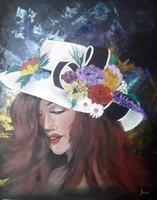 A Nő - Nyári hangulat című  festmény, portré