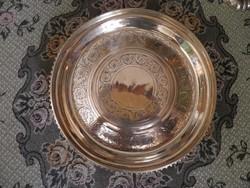 J.C. Klinkosch, Wien, ezüst kínáló, asztalközép, dísztál, kínáló tál,