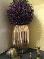 Geometrikus arany színű tükör festésű váza