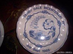 4 db jubileumi lapos tányér, angol