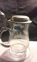 Ónfedeles gravírozott üveg korsó szarvas ábrázolással ( JVB )
