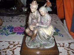 CAPODIMONTE porcelán idős pár