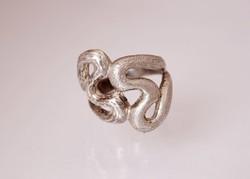 Egyedi, kézzel készített ezüst gyűrű