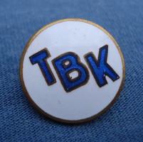 TBK kitűző    (zománcozott)