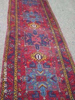 Antik Heríz Gyönyörű Értékes Kézi csomózású gyapjú szőnyeg eladó 330cmx96cm