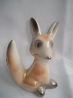 Art deco kerámia róka figura