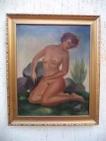 Szantrucsek Jenő  Akt festménye