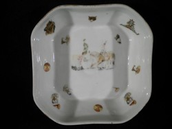 Q550 Antik Hüttl Tivadar porcelán kínáló RITKA