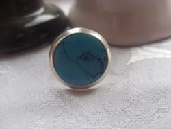 Türkizköves ezüst gyűrű