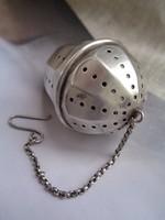 Régi ezüst teaszűrő,teatojás ! Szép! Ritka! Hibátlan!