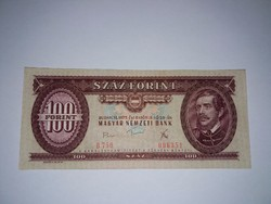 100 Forint 1975-ös Nagyon szép ropogós bankjegy !