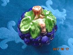 Padlizsán lila-Gyümölcs bogyó formájú kerámia kínáló-tartó
